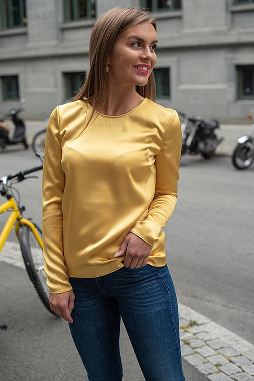 2ND DAY Houston Blouse Misted Yellow bluse