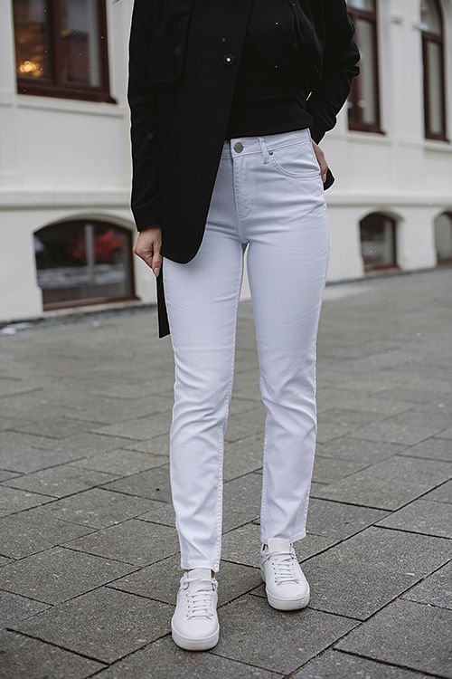 2nd DAY Riggis Jet Jeans Bright White bukse