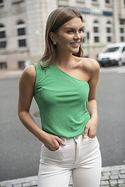 Evie Top Jelly Bean Green