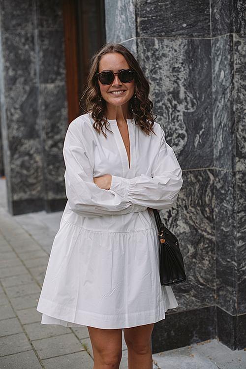 Anine Bing Addison Dress White kjole