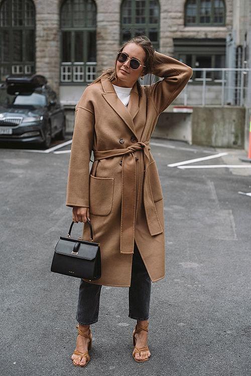 Anine Bing Dylan Coat Camel ullkåpe