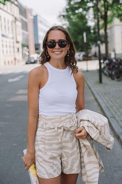 Anine Bing Eva Tank Top White singlet