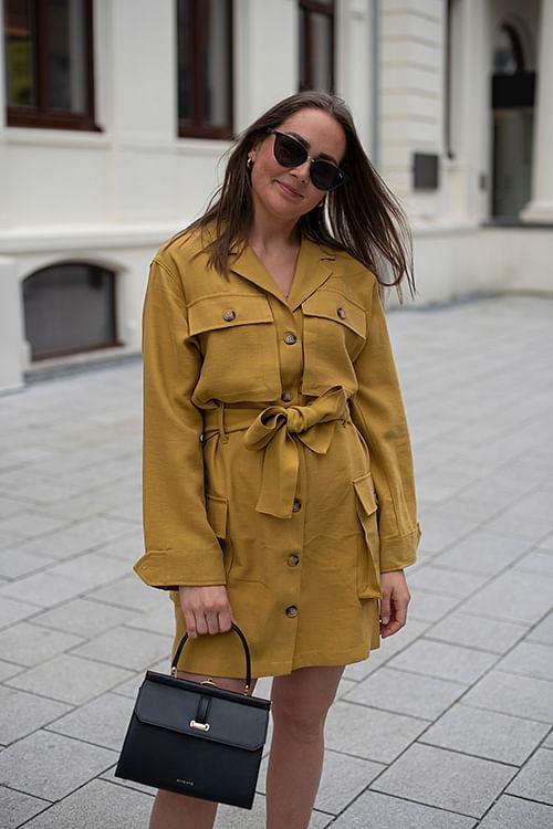 Anine Bing Kaiden Dress Mustard kjole