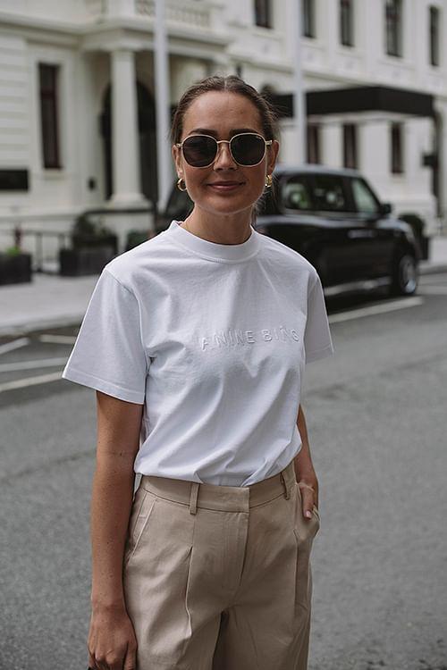 Anine Bing Lili Tee White t-skjorte