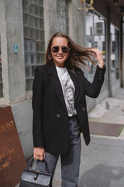 Anine Bing Madeleine Blazer Black