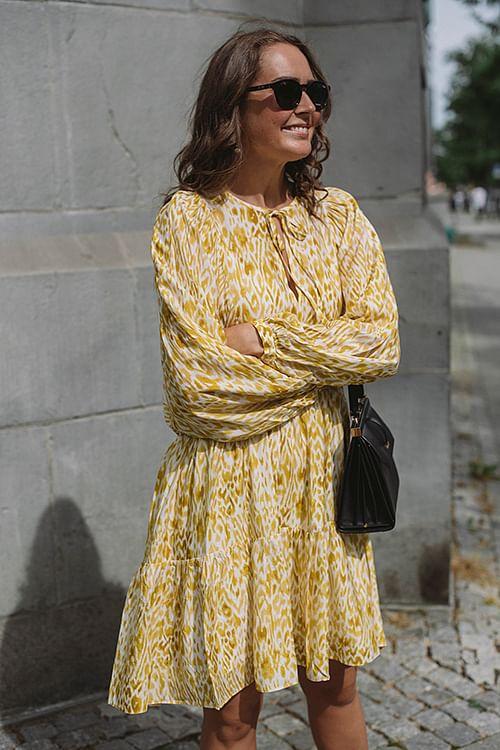 Anine Bing Madison Dress Marigold Leo kjole
