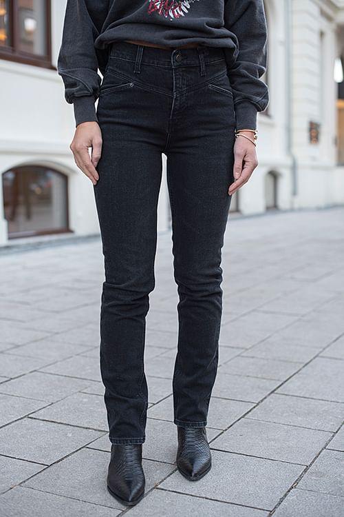 Anine Bing Mcgraw Denim Black Granite jeans