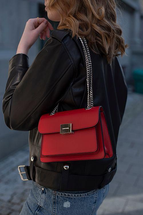 Anine Bing Mini Felix Bag Red veske