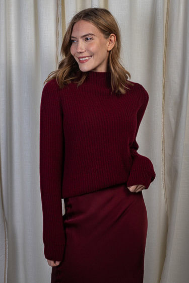 Emelie Sweater Burgundy