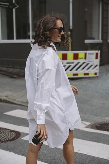 Aubrey Shirt Dress White