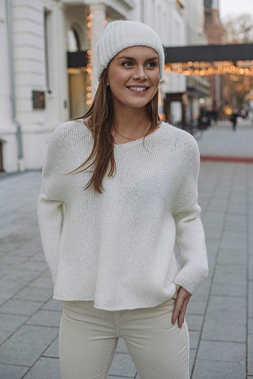 American Vintage Vacaville Sweater Pannacotta genser