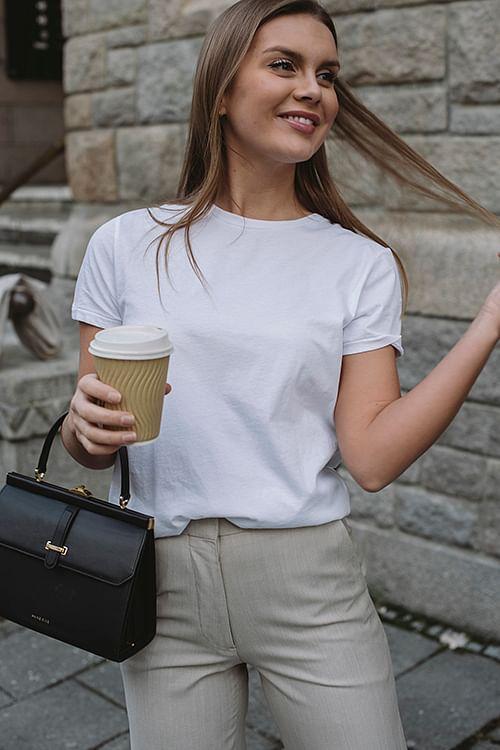 American Vintage Vegiflower t-Shirt White t-skjorte