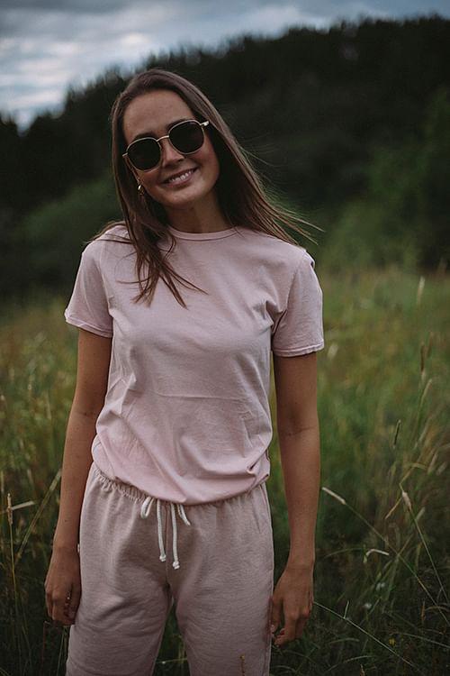 American Vintage Vegiflower T-Shirt Powder t-skjorte