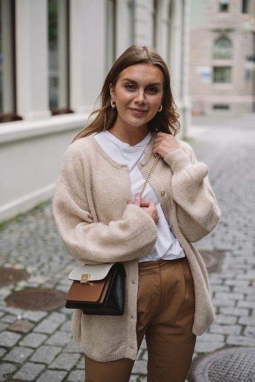 American Vintage Zabidoo Cardigan Sheep Melange strikket jakke