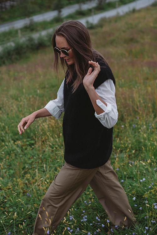 american vintage zabidoo vest black