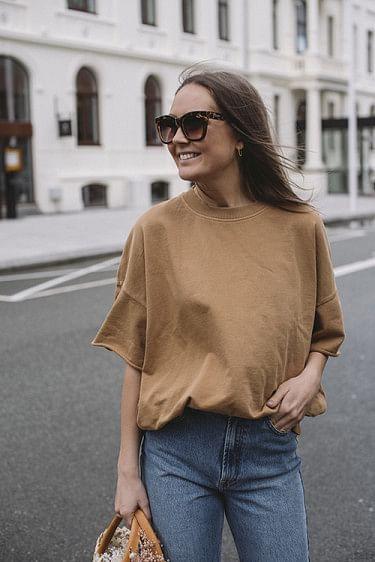 Ofibird T-Shirt Vintage Camel