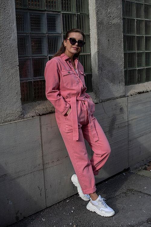 American Vintage Tineborow Jumpsuit Lychee buksedress