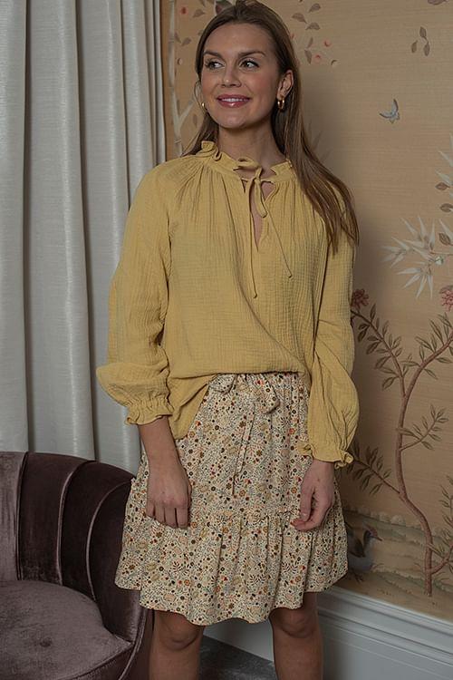 Arnie Says Gaia Gauze Blouse Yellow bluse
