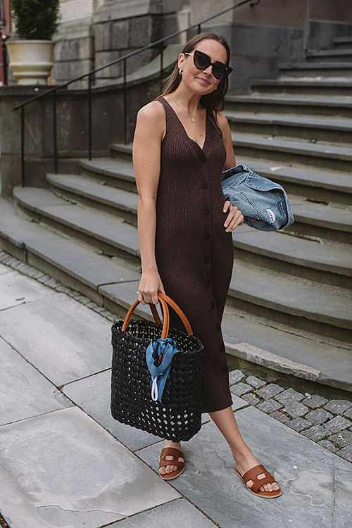 Leandra Dress Dark Chocolate