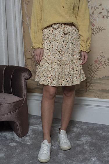 Aria Print Skirt Ecru Multi