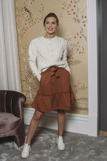 Aria Drapey Skirt Cinnamon