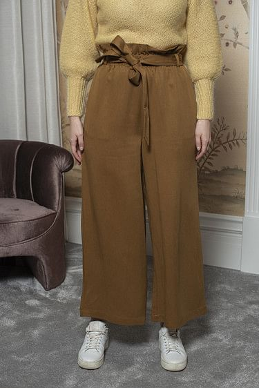 Chloe Drapey Pants Golden Brown