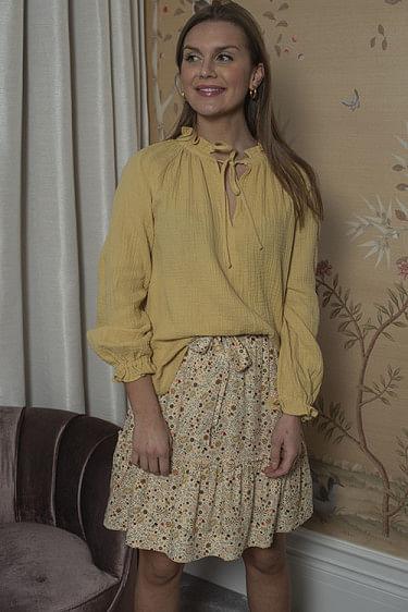 Gaia Gauze Blouse Yellow