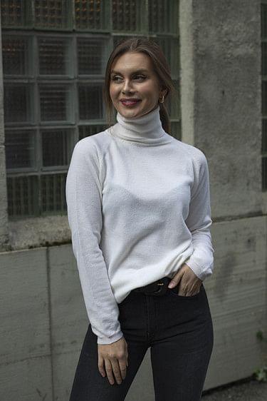 Alaia Wool Sweater Ecru
