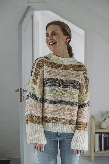 Amoret Stripe Sweat Ecru Multi