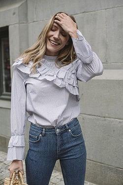 Moya Shirt White Stripe