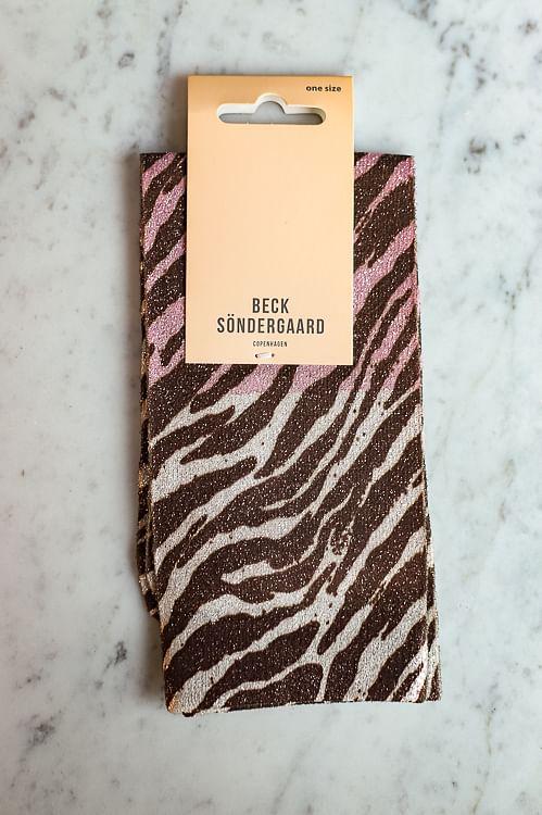 Becksöndergaard Dagmar Zebra Socks Off White sokker