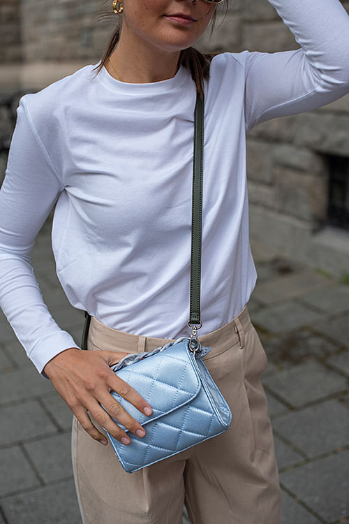 Becksöndergaard Satin Bubba Bag Chambray Blue veske