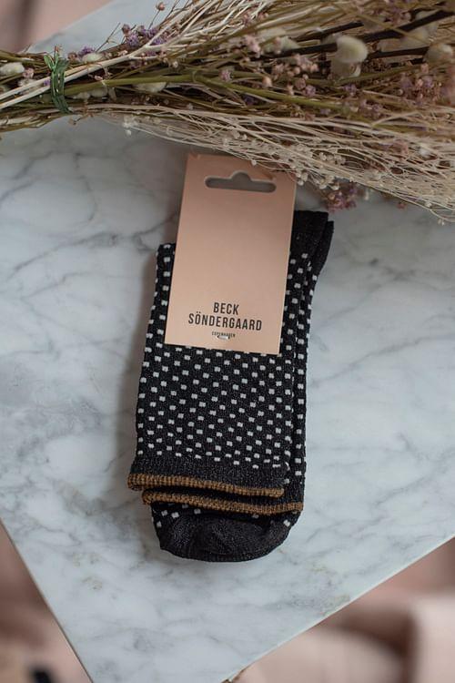 Becksöndergaard Dina Small Dots Black sokker