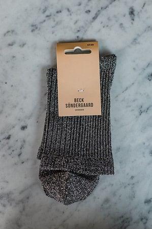 Dina Glitz Socks Silver
