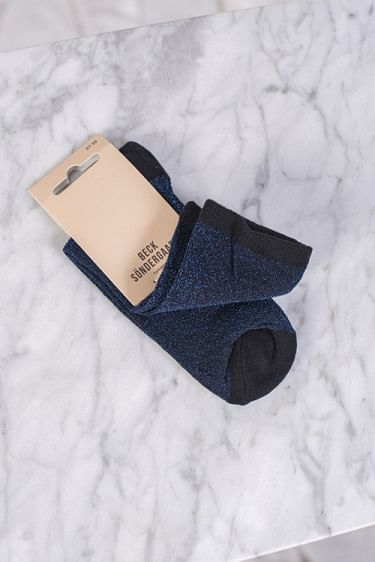 Dina Solid Socks Blue Nights
