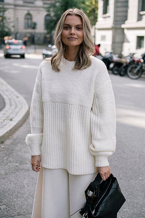 By Malene Birger Joannas Sweater Soft White genser
