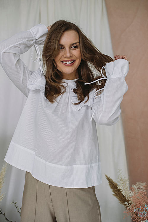 By Malene Birger Salinger Shirt Pure White bluse