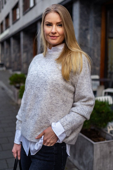 Ana Sweater Light Grey Melange