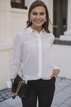 Likarah Silk Shirt Soft White