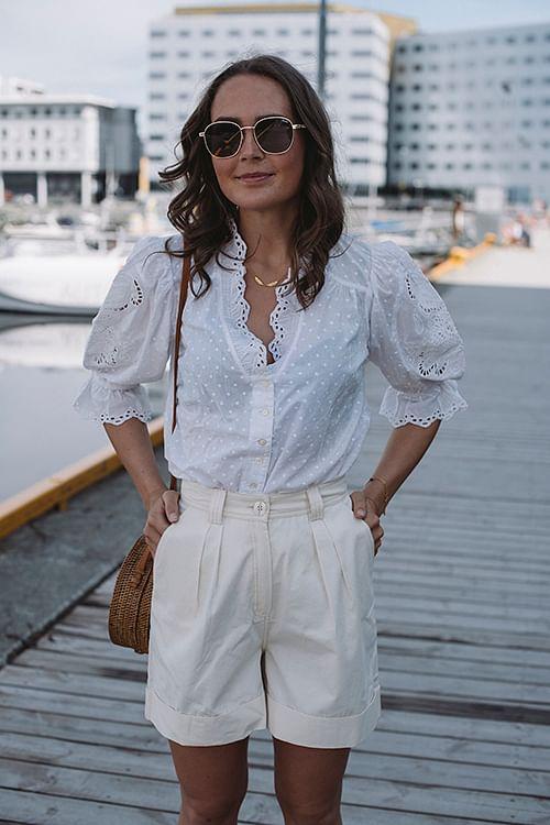 byTiMo Sunday Morning Shirt White bluse