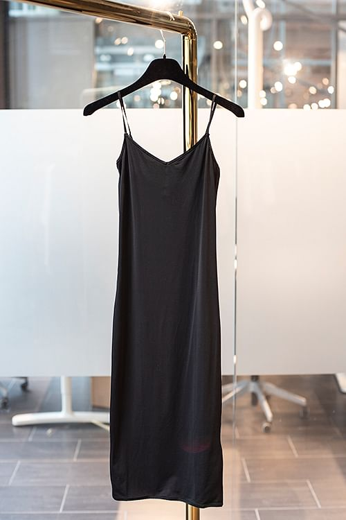 byTiMo 40´s Shape Slip Dress Black underkjole