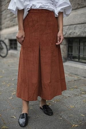 Corduroy Skirt Rust