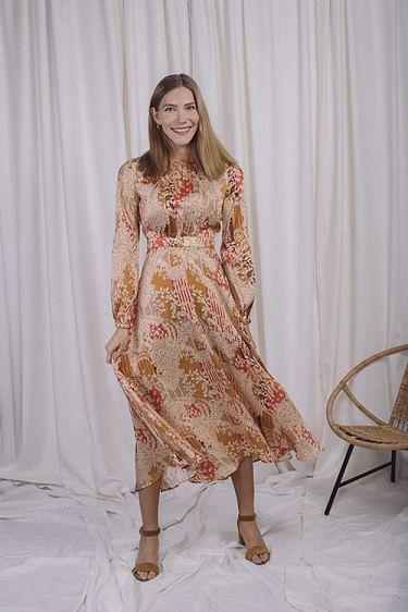 Satin Midi Dress Tokyo Dream