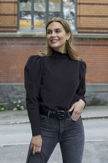 Baby Cord Blouse Black