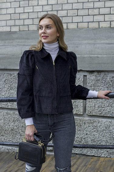 Corduroy Jacket Black