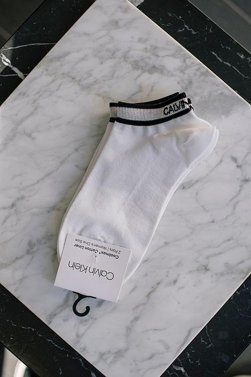 Calvin Klein Spencer Coolmax White sokker