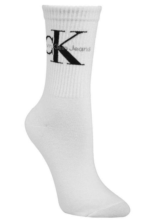 Calvin Klein Bowery Logo Crew Socks White sokker