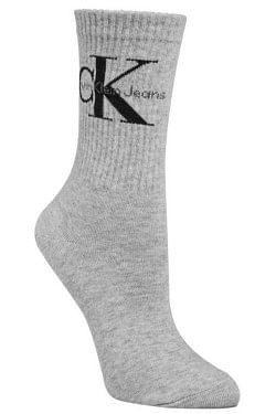 Bowery Logo Crew Socks Pale Grey