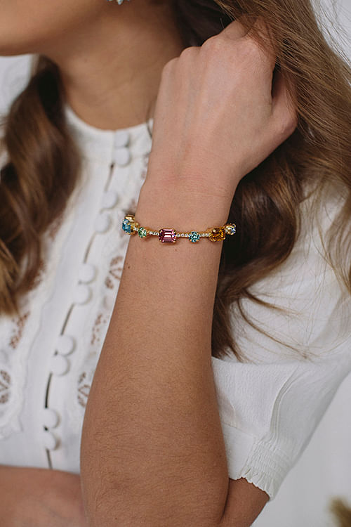 Angelina Bracelet Gold Rainbow Combo