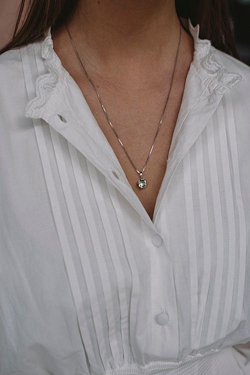 Classic Petite Necklace Silver Chrysolite